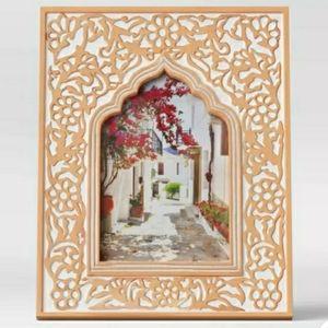 New! Opalhouse Tan White Kazbah Resin 4 x 6 Frame